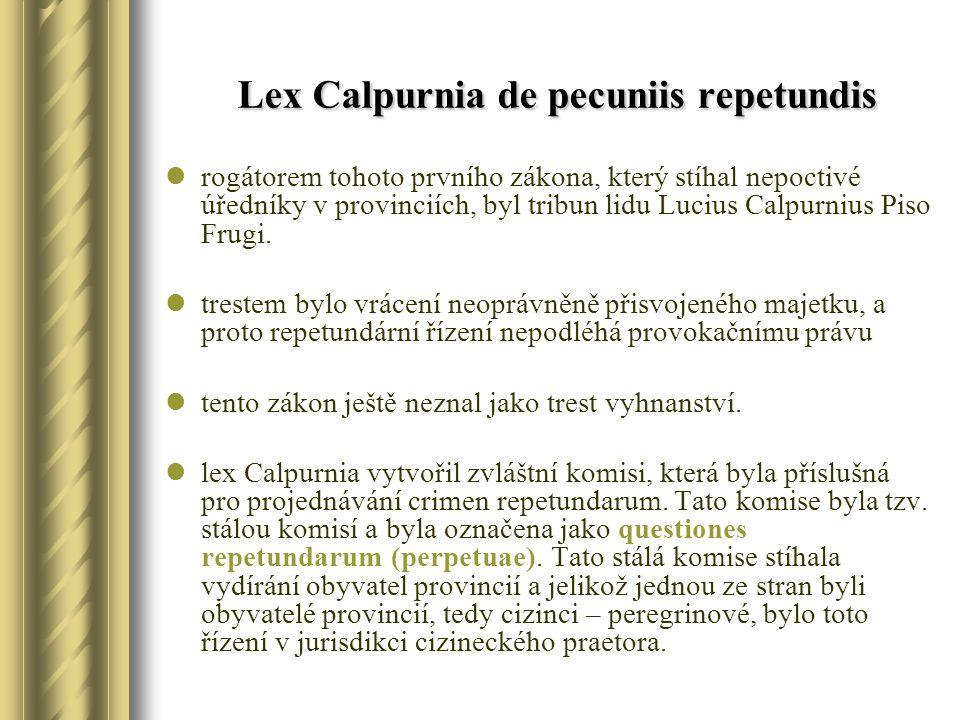 Lex Calpurnia de pecuniis repetundis