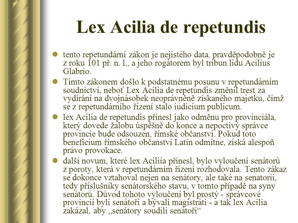Lex Acilia de repetundis