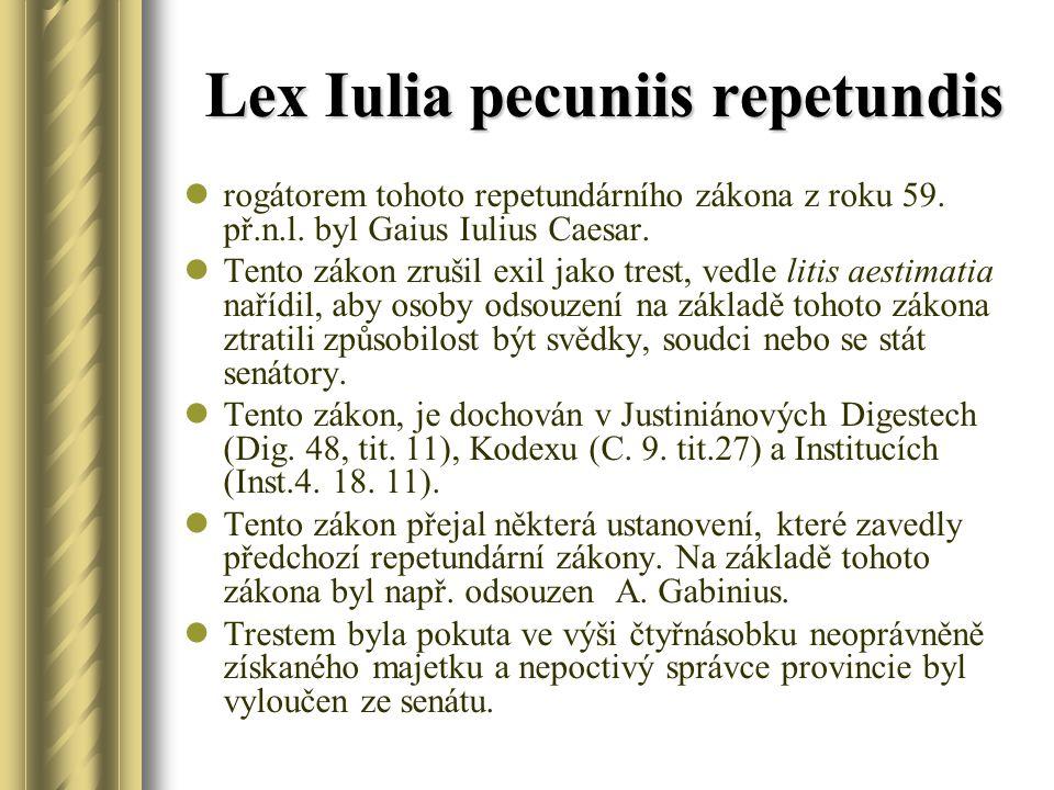 Lex Iulia pecuniis repetundis
