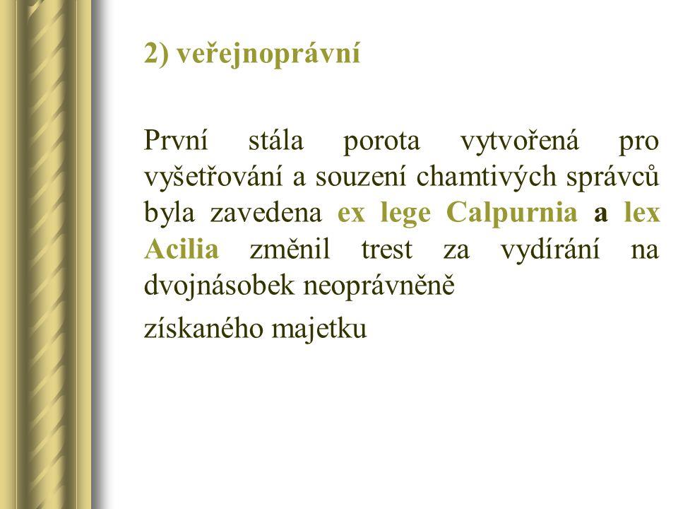 2) veřejnoprávní