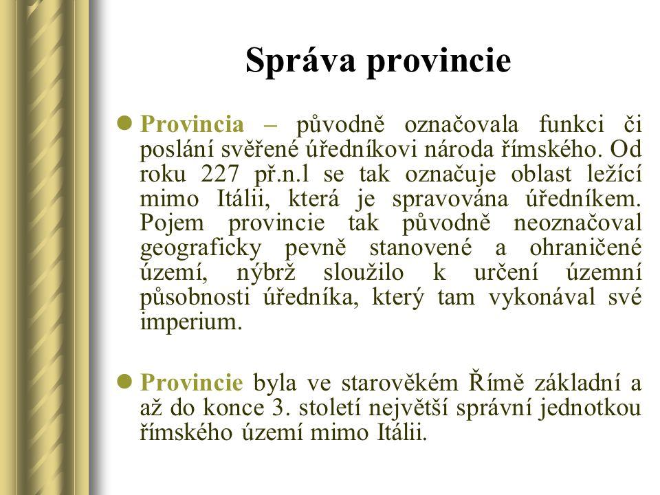 Správa provincie