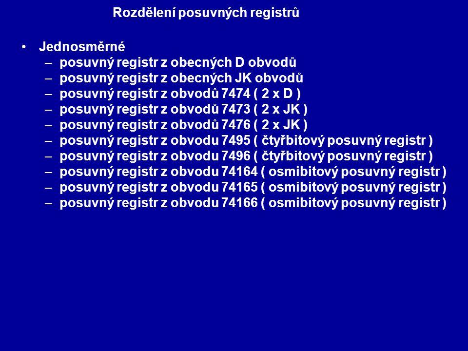 Rozdělení posuvných registrů