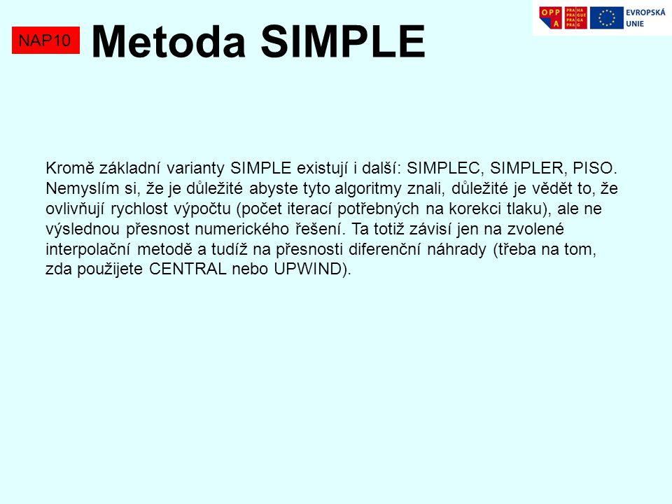 Metoda SIMPLE NAP10.