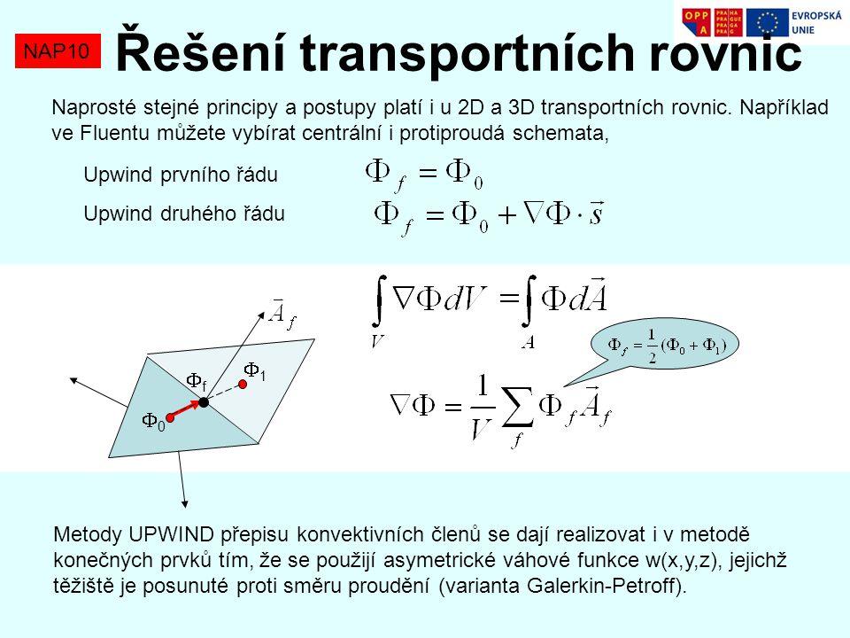 Řešení transportních rovnic