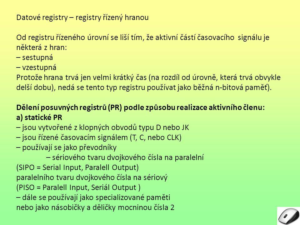 Datové registry – registry řízený hranou