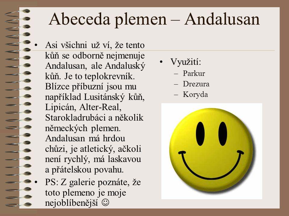 Abeceda plemen – Andalusan
