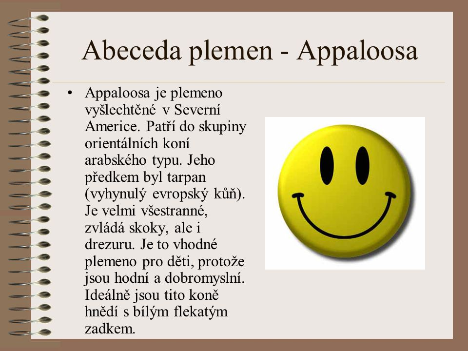Abeceda plemen - Appaloosa