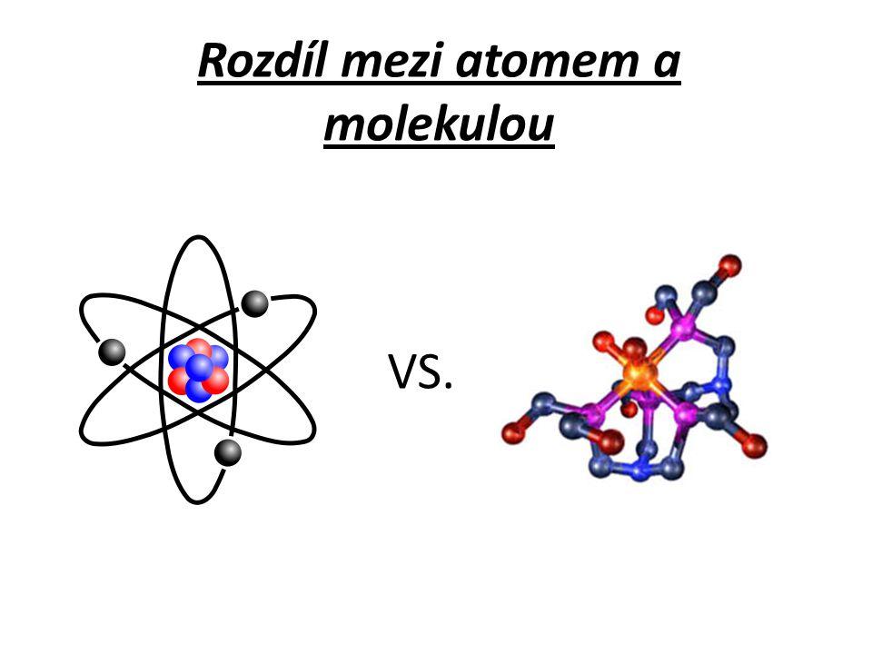Rozdíl mezi atomem a molekulou