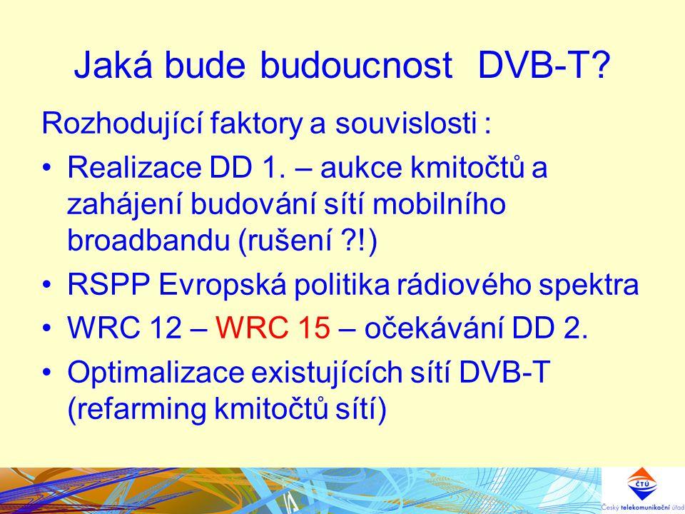 Jaká bude budoucnost DVB-T