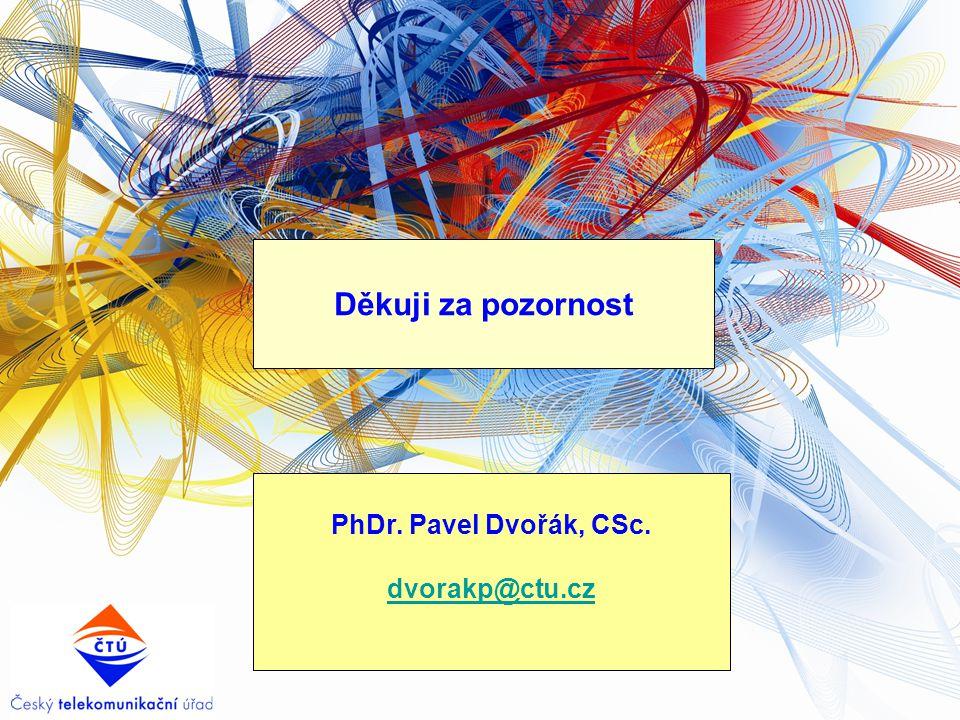 Děkuji za pozornost PhDr. Pavel Dvořák, CSc. dvorakp@ctu.cz