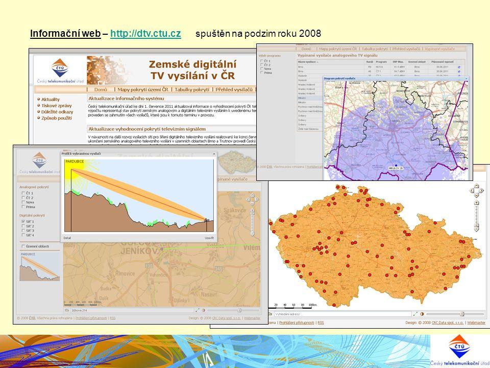 Informační web – http://dtv.ctu.cz spuštěn na podzim roku 2008