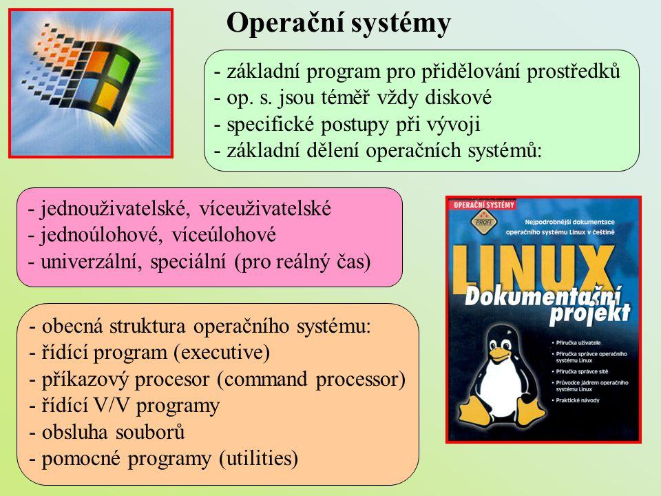 Operační systémy - základní program pro přidělování prostředků