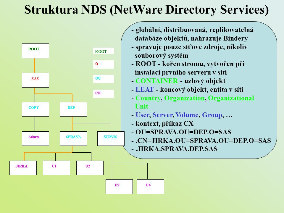 Struktura NDS (NetWare Directory Services)