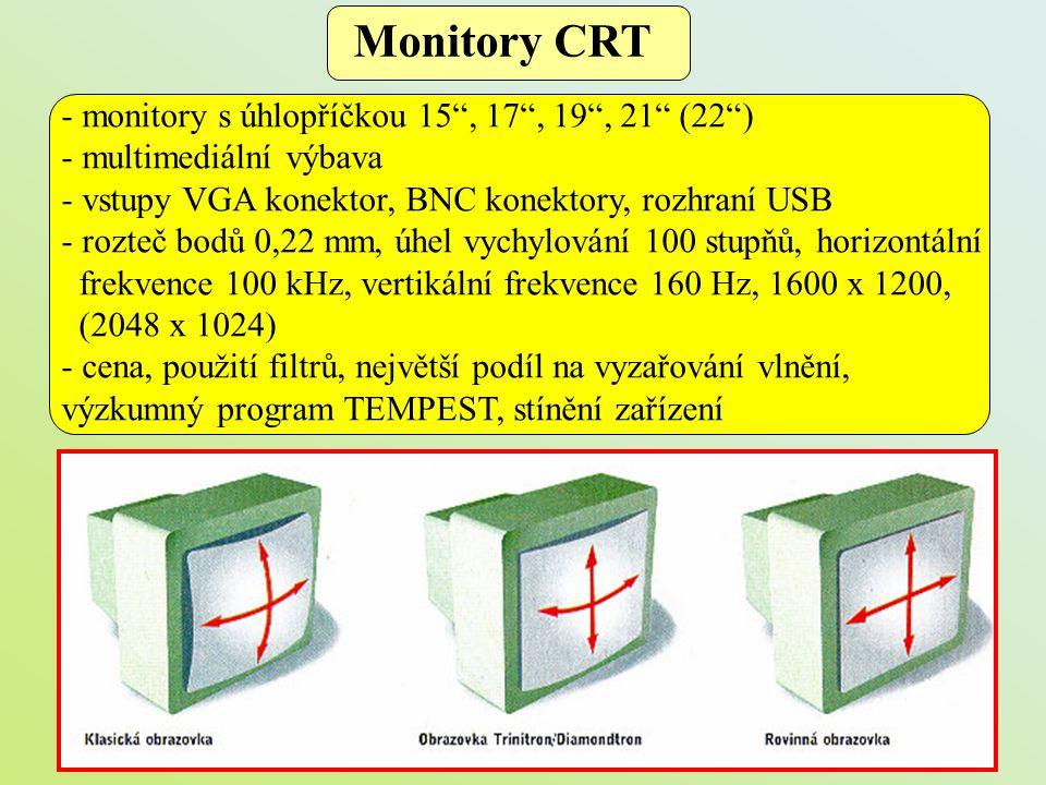 Monitory CRT - monitory s úhlopříčkou 15 , 17 , 19 , 21 (22 )