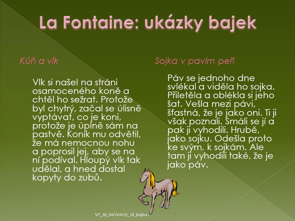 La Fontaine: ukázky bajek