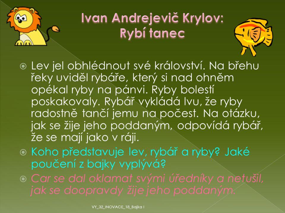 Ivan Andrejevič Krylov: Rybí tanec
