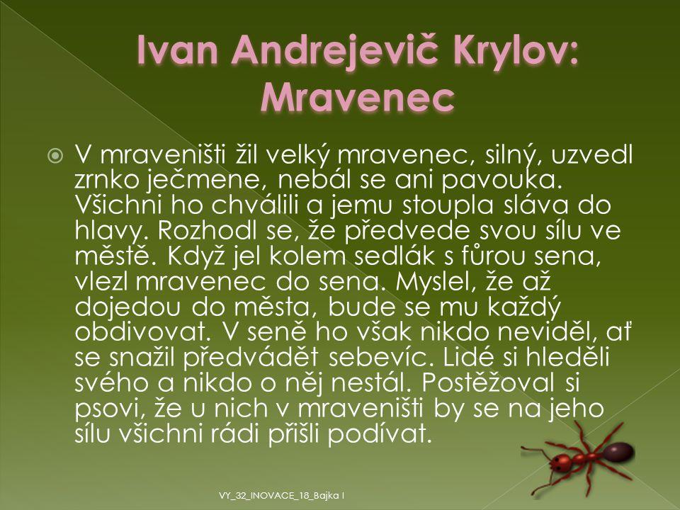 Ivan Andrejevič Krylov: Mravenec