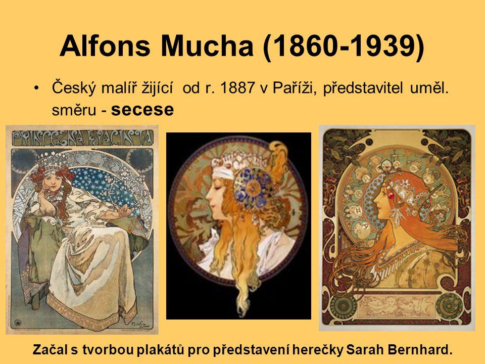 Začal s tvorbou plakátů pro představení herečky Sarah Bernhard.