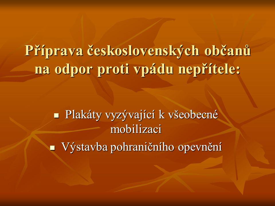 Příprava československých občanů na odpor proti vpádu nepřítele: