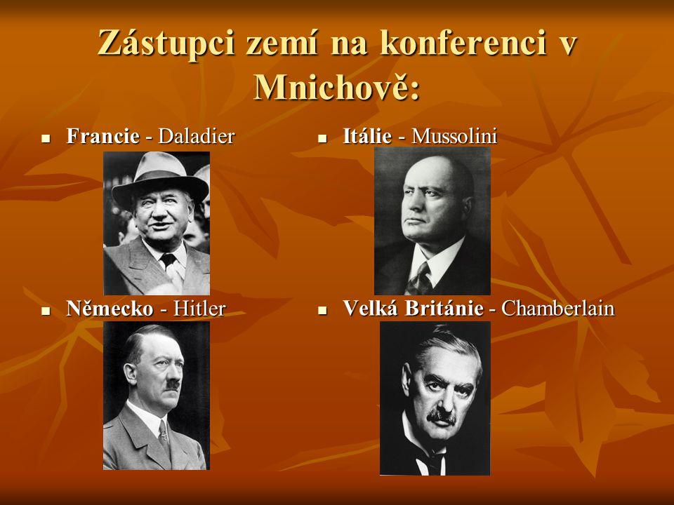 Zástupci zemí na konferenci v Mnichově: