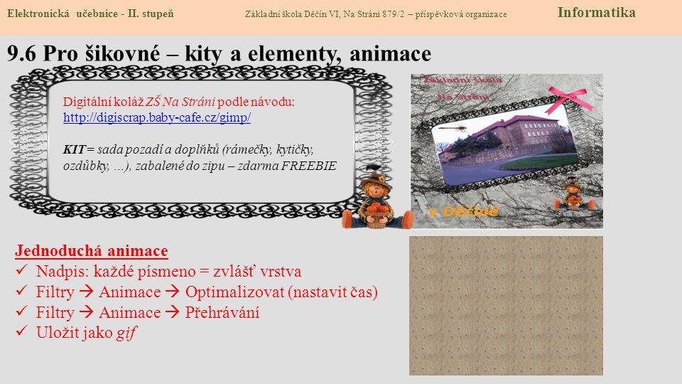 9.6 Pro šikovné – kity a elementy, animace