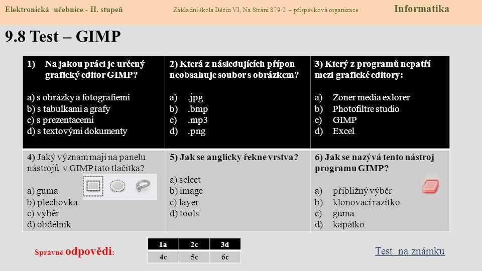 9.8 Test – GIMP Test na známku