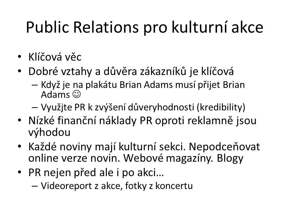 Public Relations pro kulturní akce