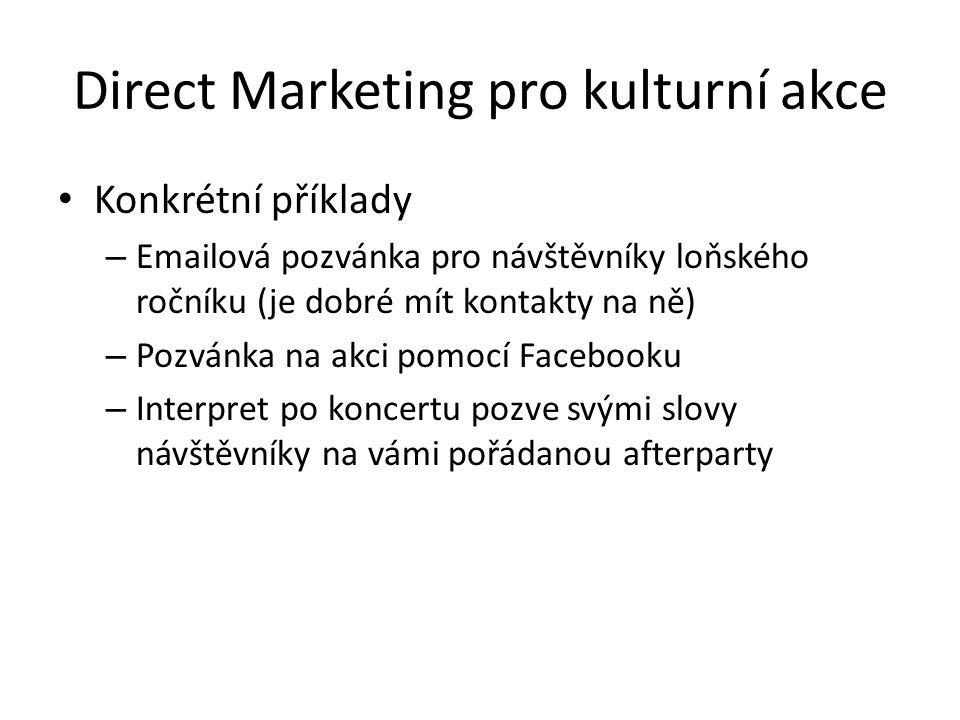 Direct Marketing pro kulturní akce