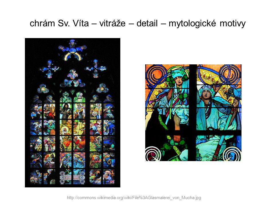 chrám Sv. Víta – vitráže – detail – mytologické motivy