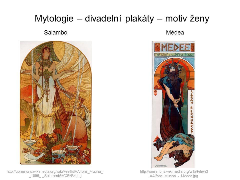 Mytologie – divadelní plakáty – motiv ženy