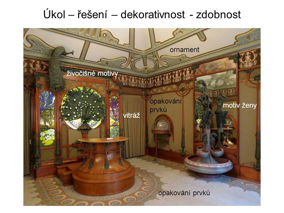Úkol – řešení – dekorativnost - zdobnost