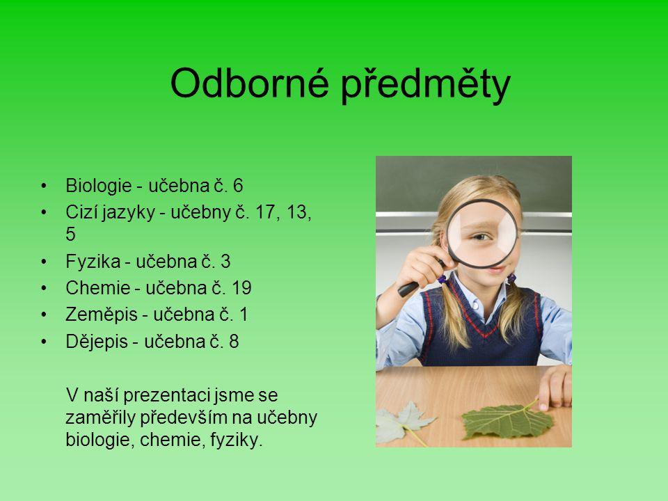 Odborné předměty Biologie - učebna č. 6