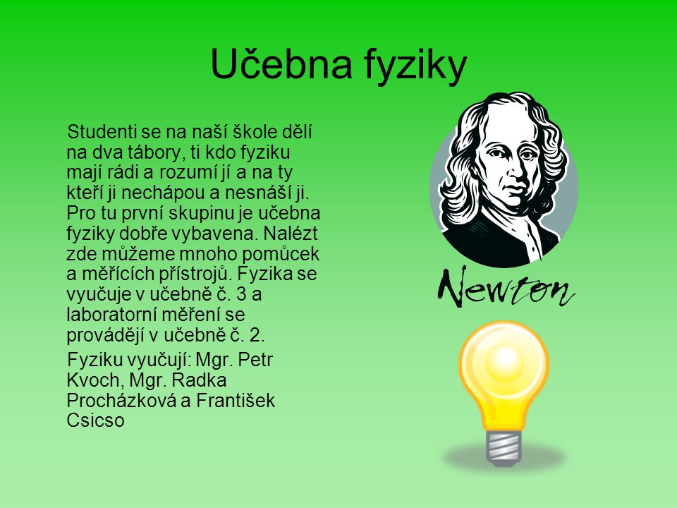 Učebna fyziky
