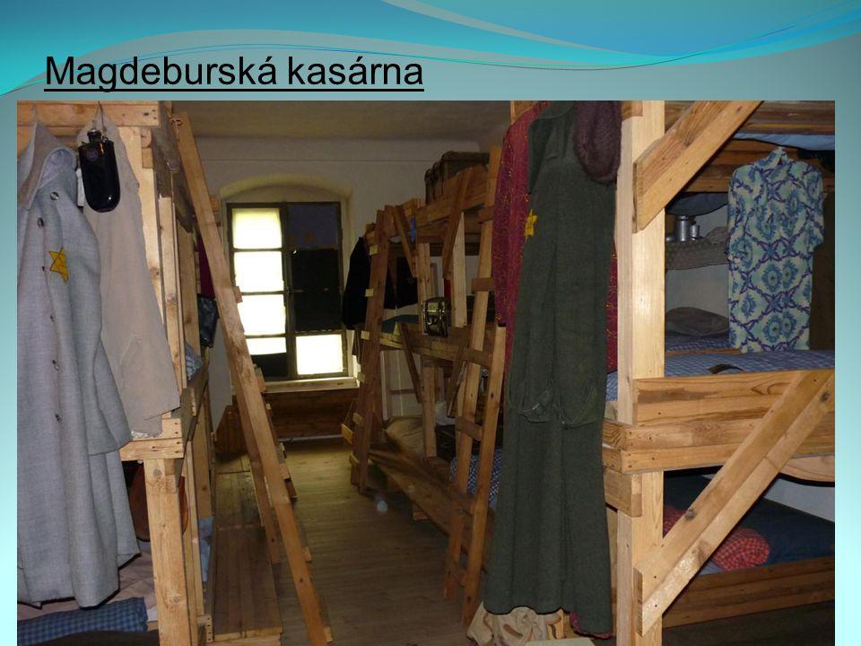 Magdeburská kasárna Replika vězeňské ubikace z doby ghetta
