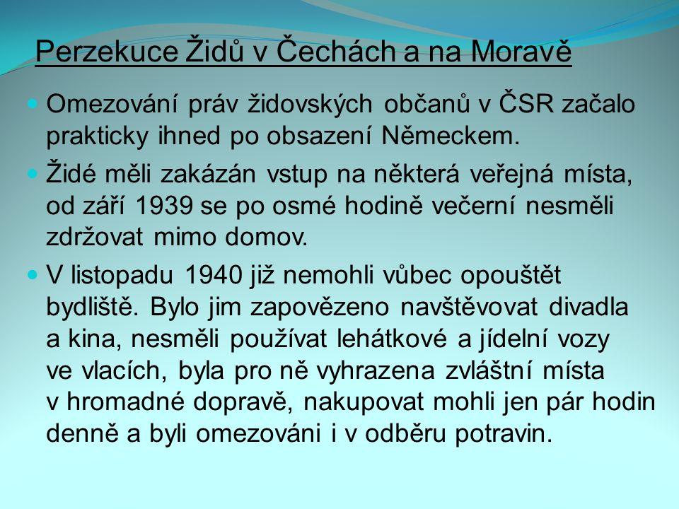 Perzekuce Židů v Čechách a na Moravě