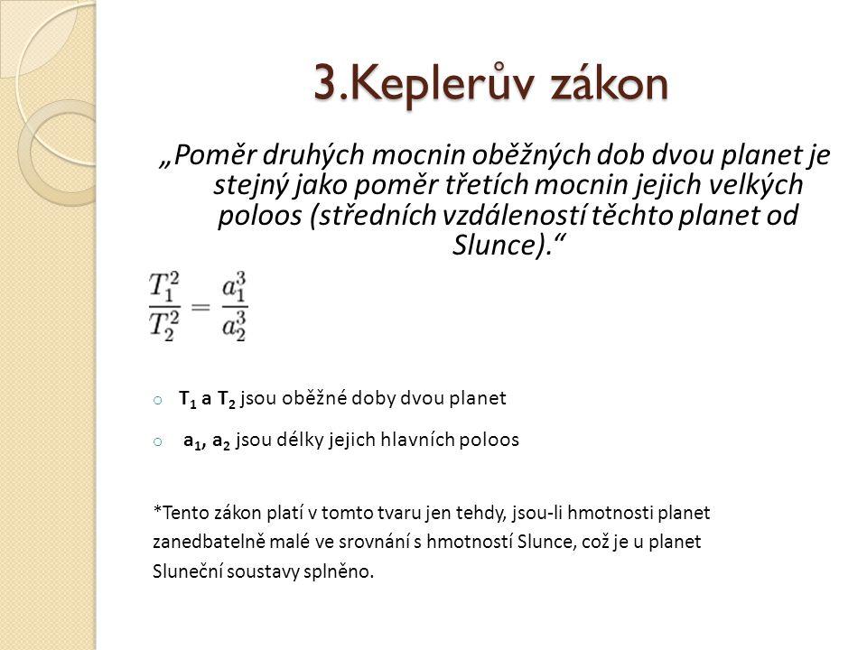 3.Keplerův zákon