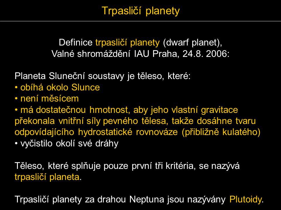 Trpasličí planety Definice trpasličí planety (dwarf planet),