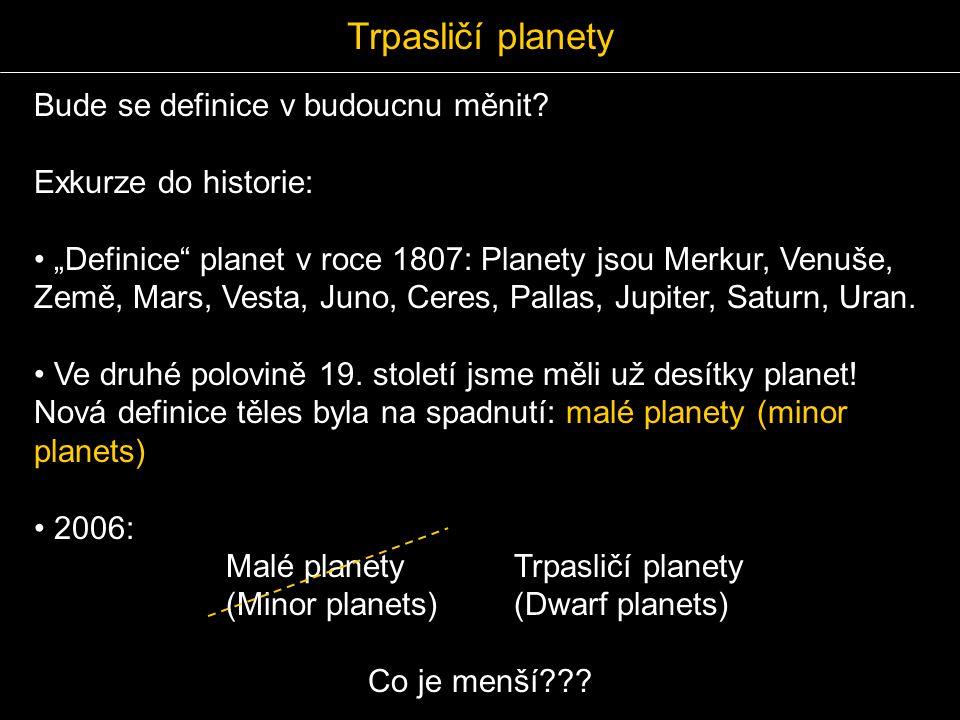 Trpasličí planety Bude se definice v budoucnu měnit