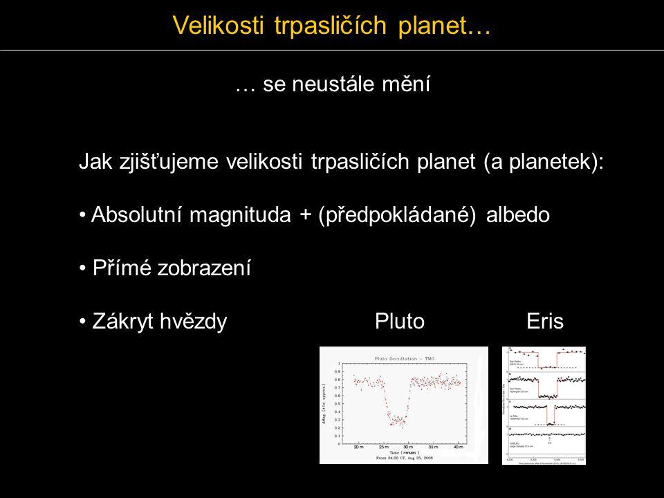 Velikosti trpasličích planet…