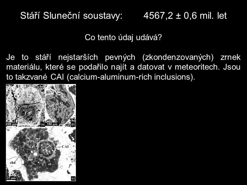 Stáří Sluneční soustavy: 4567,2 ± 0,6 mil. let