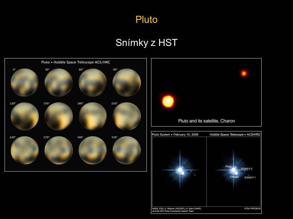 Pluto Snímky z HST