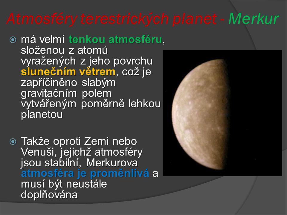 Atmosféry terestrických planet - Merkur