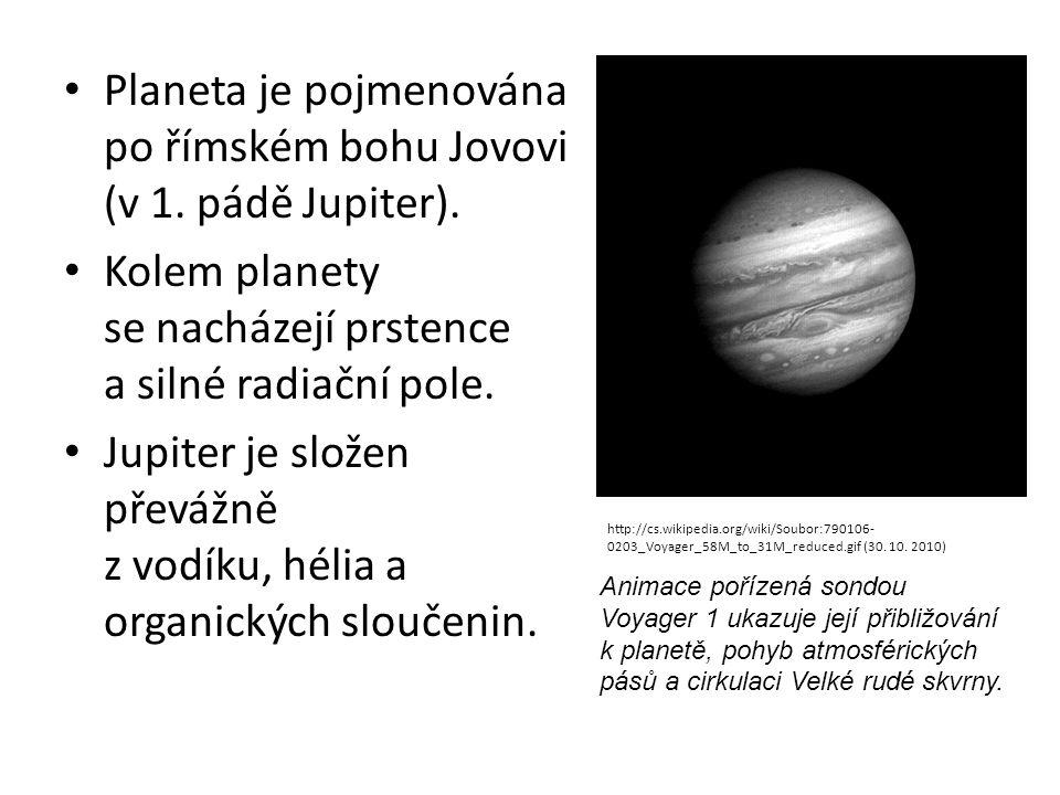 Planeta je pojmenována po římském bohu Jovovi (v 1. pádě Jupiter).