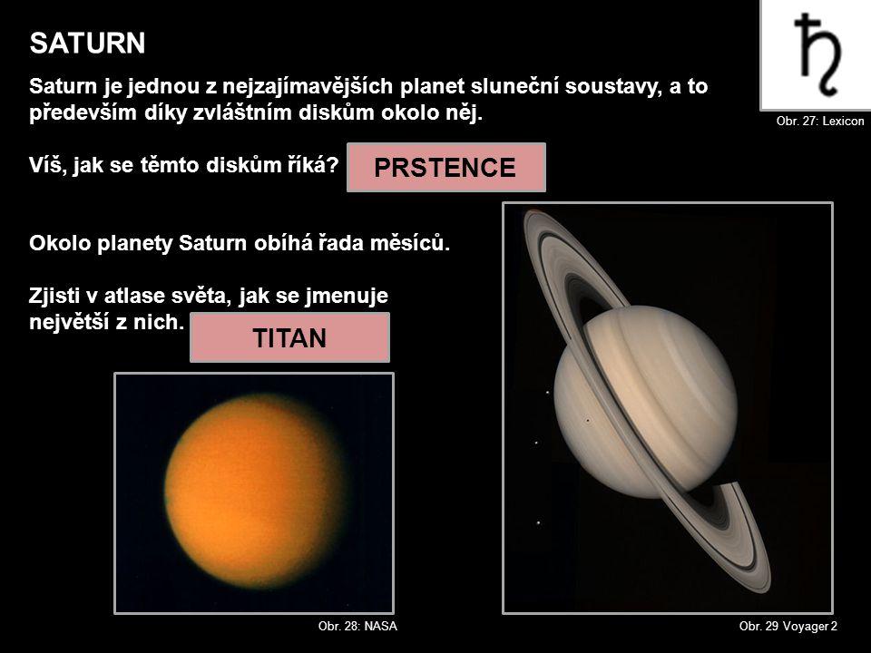 SATURN Saturn je jednou z nejzajímavějších planet sluneční soustavy, a to. především díky zvláštním diskům okolo něj.