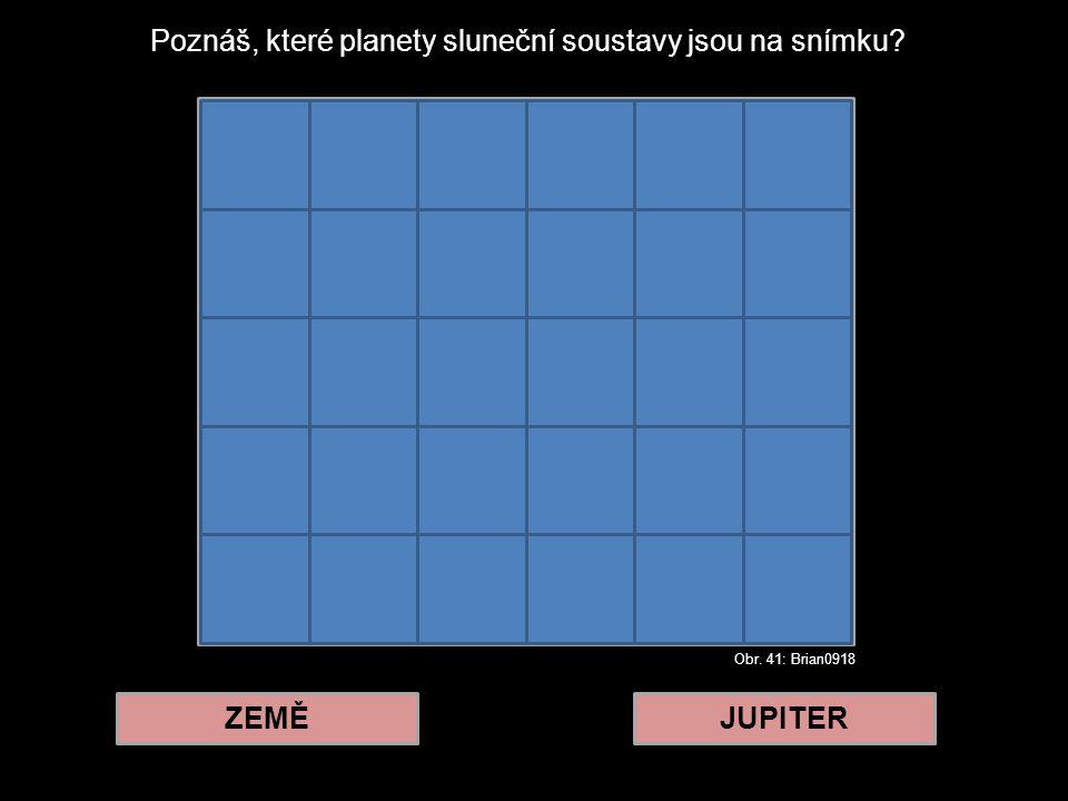Poznáš, které planety sluneční soustavy jsou na snímku