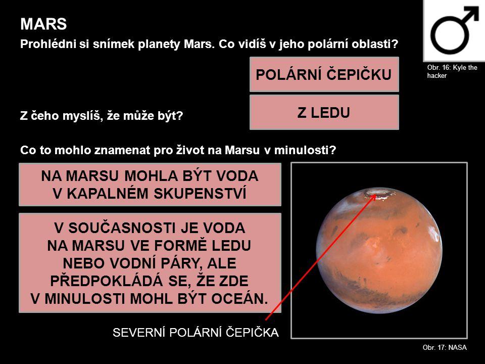 NA MARSU MOHLA BÝT VODA V KAPALNÉM SKUPENSTVÍ