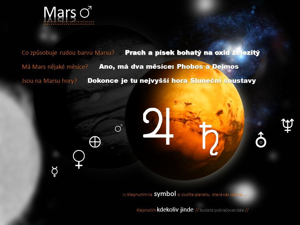 Mars :::::::::::::::::::::::::: Co způsobuje rudou barvu Marsu