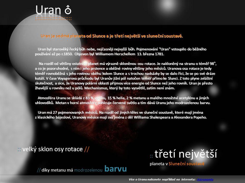 Uran :: velký sklon osy rotace // :::::::::::::::::::::::