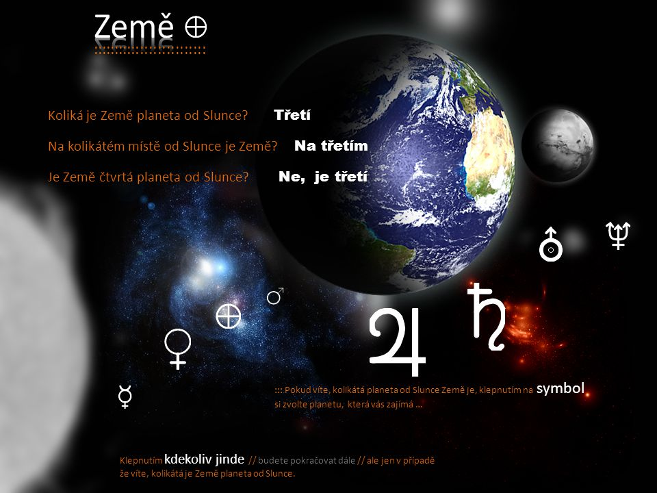 Země :::::::::::::::::::::::::: Koliká je Země planeta od Slunce
