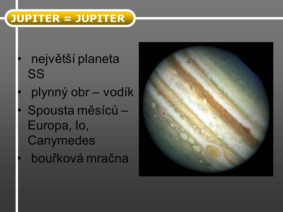 Spousta měsíců – Europa, Io, Canymedes